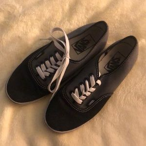 Vans sneakers grey and black womens size 6